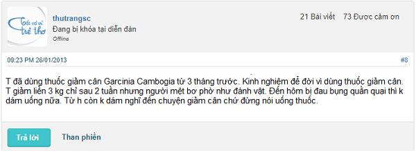 Thuốc giảm cân Garcinia Cambogia có tốt không