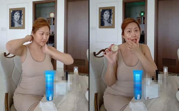 Phi Thanh Vân xuất hiện với thân hình sồ sề trong Livestream