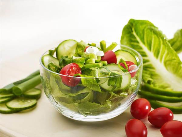 Thực đơn giảm cân với rau xanh
