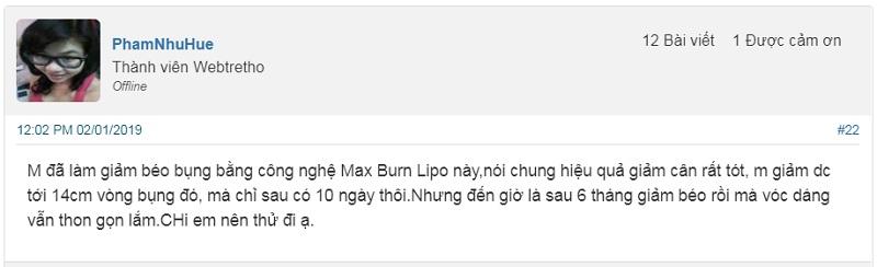 Review công nghệ giảm béo Max Burn Lipo