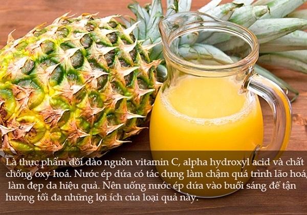 cách ăn, uống nước ép dứa thơm có giảm cân(béo) không, như thế nào vào lúc nào để giảm cân, có béo mập mỡ bụng không