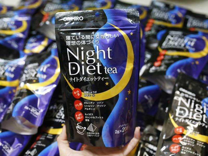 Cách dùng trà giảm cân Night Diet Tea