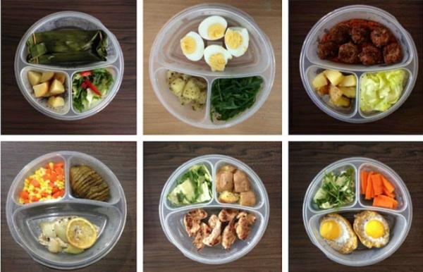 giảm cân bằng rau củ