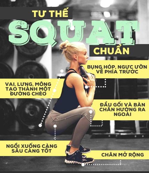 Bài tập Squat giảm cân cho nữ siêu hiệu quả