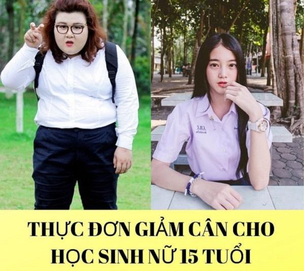 Thực đơn giảm cân cho học sinh nữ 15 tuổi