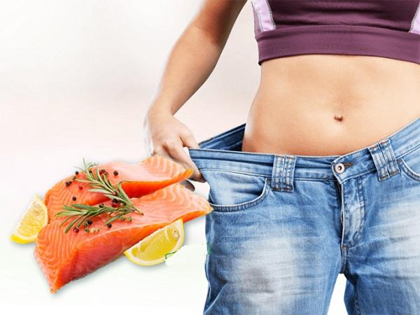Ẳn cá hồi có giảm cân không
