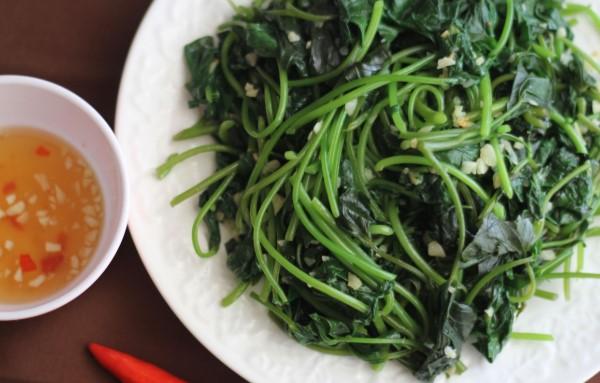 giảm cân với rau bina