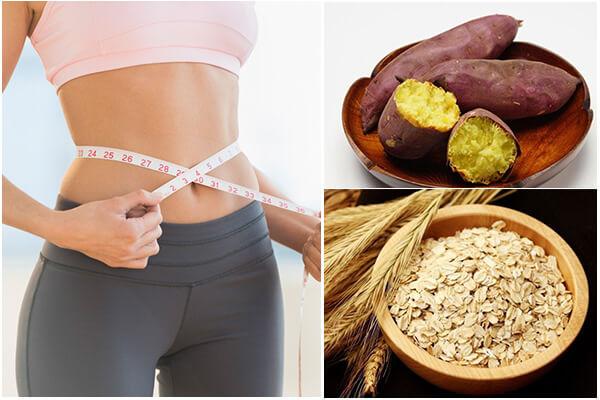 giảm cân bằng khoai lang và yến mạch có hiệu quả không