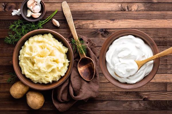 thực đơn giảm cân bằng khoai tây và sữa chua