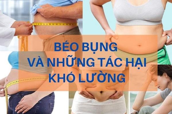 Tìm hiểu tác hại của béo bụng | Nguy hiểm ẩn mình sau lớp mỡ bụng