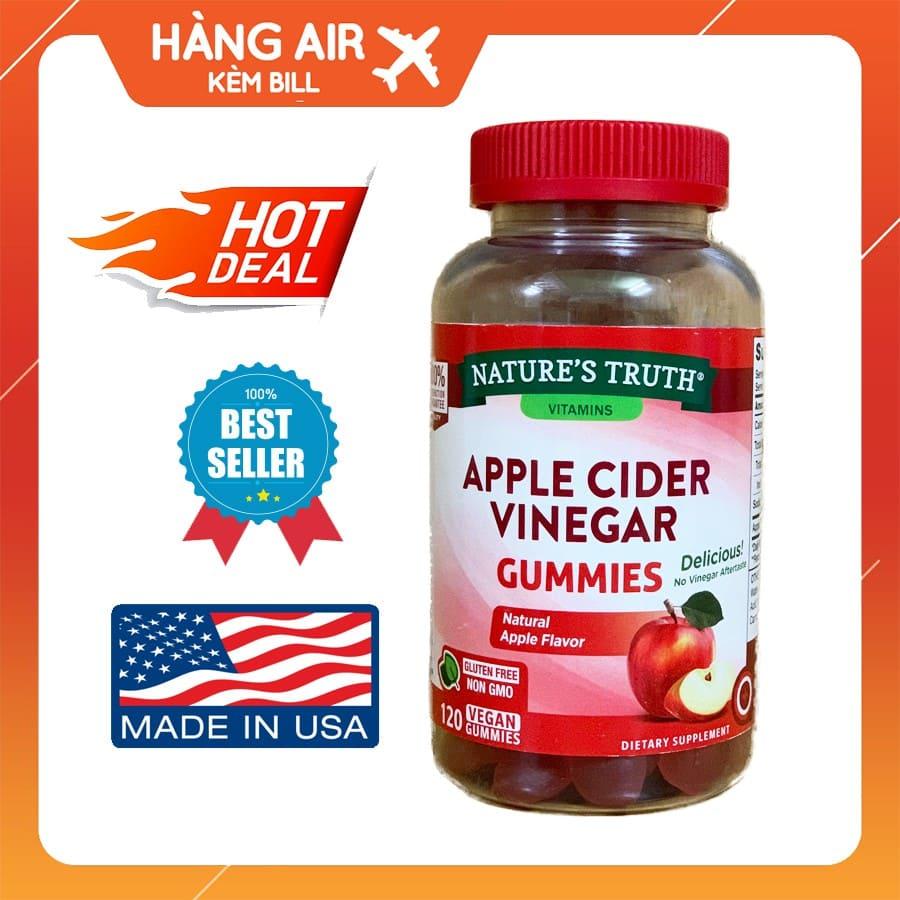 kẹo giấm táo giảm cân Apple Cider Vinegar có tốt không